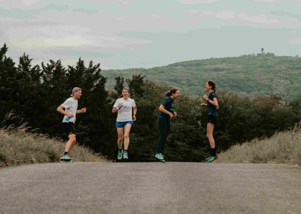 Groupe de coureurs